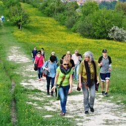 studenti che camminano
