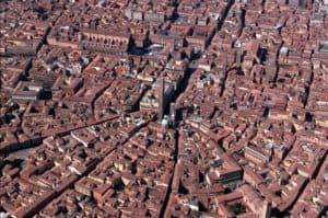 bologna center view from above