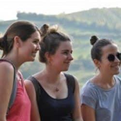 cultura italiana bologna students girl looking at the hills