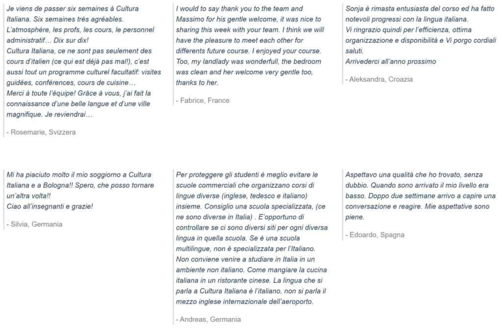 Cultura-Italiana-Bologna-students-feedback-while-they-learn-italian-in-italy